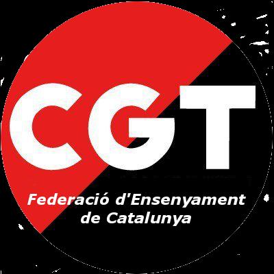CGT Federació d'Ensenyament Catalunya logo