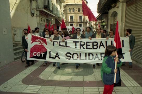Mani 1 de maig de 1996. CGT Lleida
