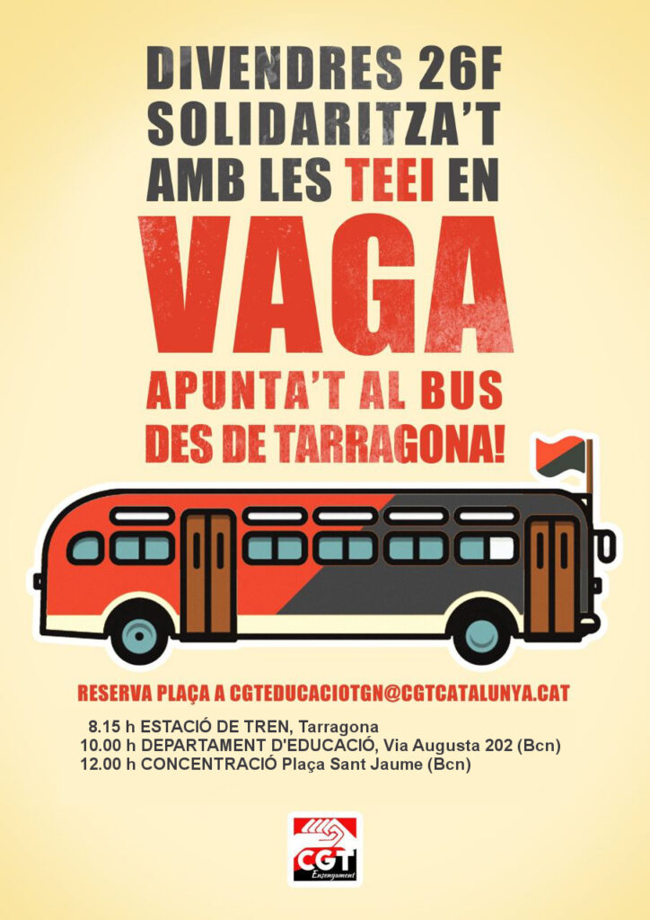 Bus solidari Vaga TEEI des de Tarragona