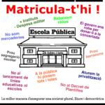 La CGT Ensenyament reprèn la campanya en defensa de l'Escola Pública