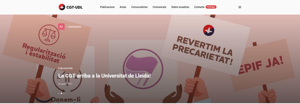 Web de la CGT Universitat de Lleida