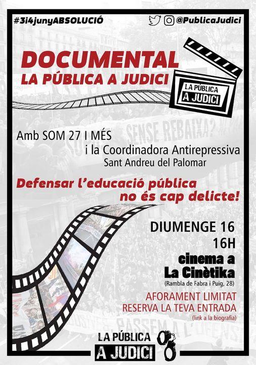 Documental La Pública a judici
