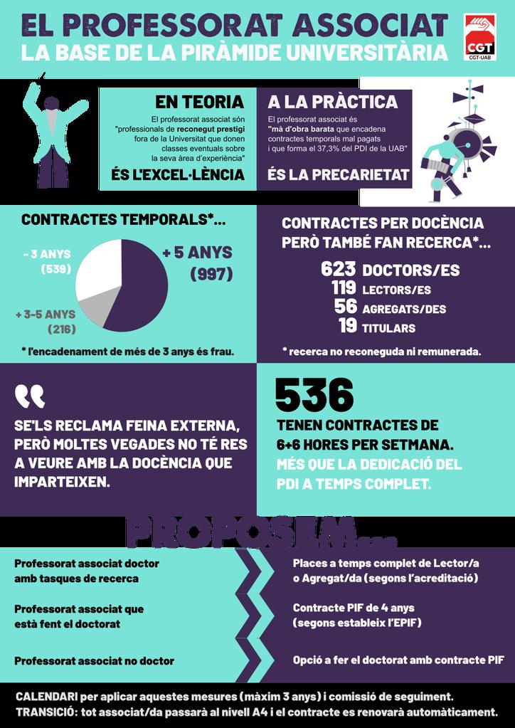 Infografia professorat associat