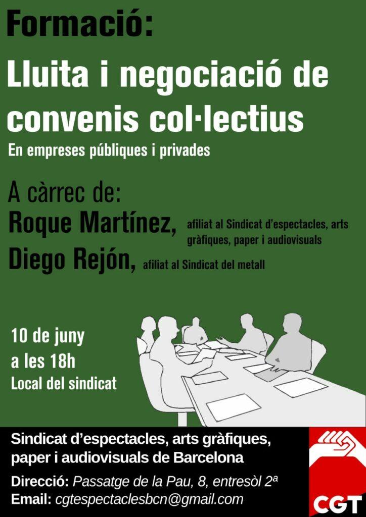 Formació: Lluita i negoaciació de convenis col·lectius
