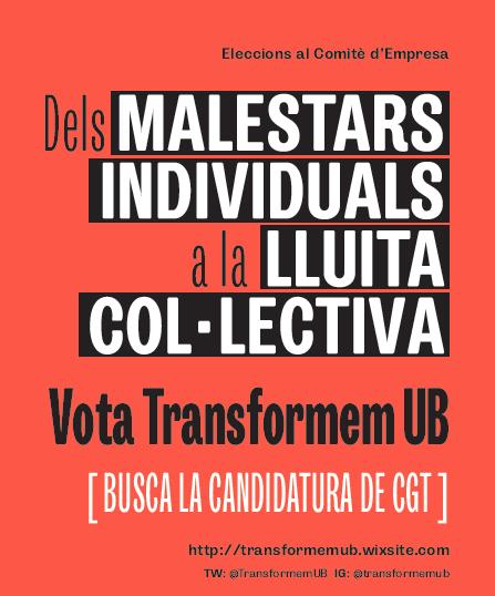 Transformem UB candidatura CGT